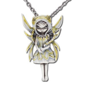 Silver & Gold Fairy Necklace Jasmine Becket-Griffith Strangeling Fearie Pendant - Baby Feathers Gift Shop