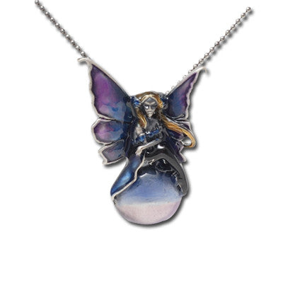Floating Jewel Fairy Necklace Amy Brown Pendant with Chain - Baby Feathers Gift Shop