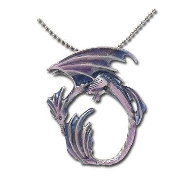 Moon Dragon Necklace Amy Brown Pendant with Chain - Baby Feathers