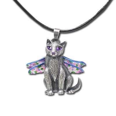 Dragonfly Fairy Cat with Rope Necklace: Carrie Hawks - Baby Feathers Gift Shop