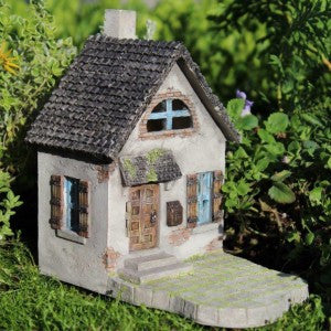 Hollybrook Cottage w/hinged door: Fairy Garden Minuature House - Baby Feathers Gift Shop
