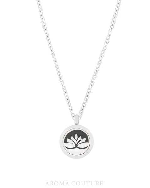 "Petite Lotus Flower Diffuser Necklace 18"": Aroma Couture - Baby Feathers Gift Shop"