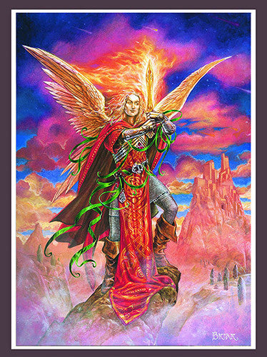 Archangel Michael Print by Briar - Baby Feathers