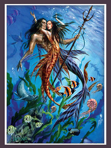 Mer Folk Merman & Mermaid Print by Briar - Baby Feathers Gift Shop