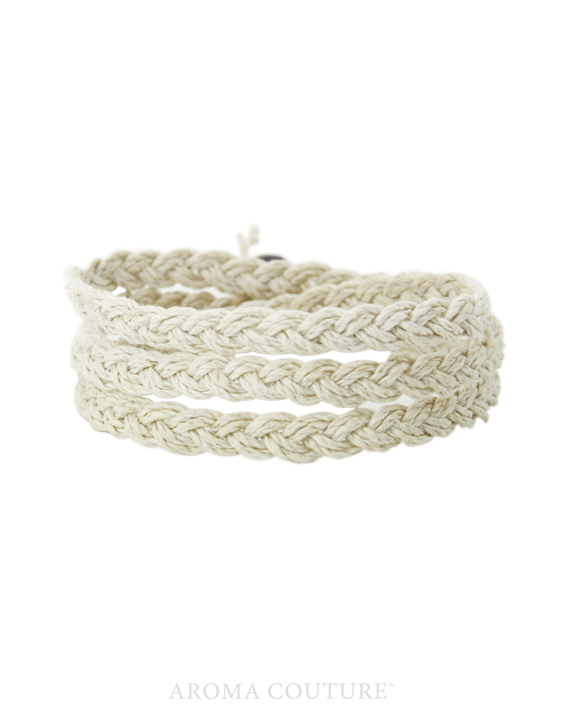 Chelsea Organic Hemp Diffuser Wrap Bracelet Aroma Couture - Baby Feathers Gift Shop