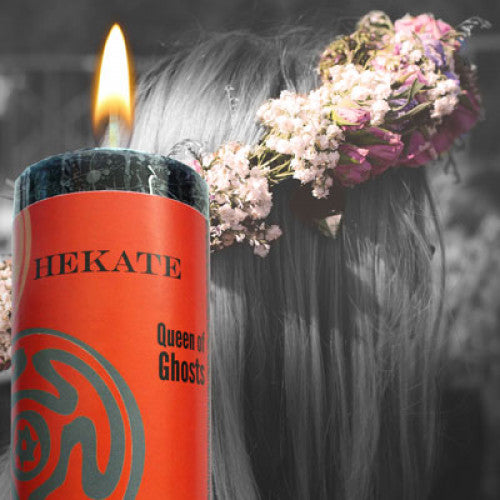 Hekate: Queen of the Crossroads World Magic Candle - Baby Feathers Gift Shop