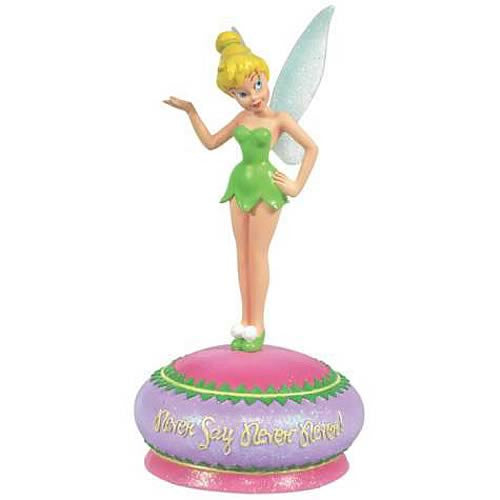 Tinker Bell Fairy Never Say Never Musical Figurine: Disney Fairies - Baby Feathers Gift Shop