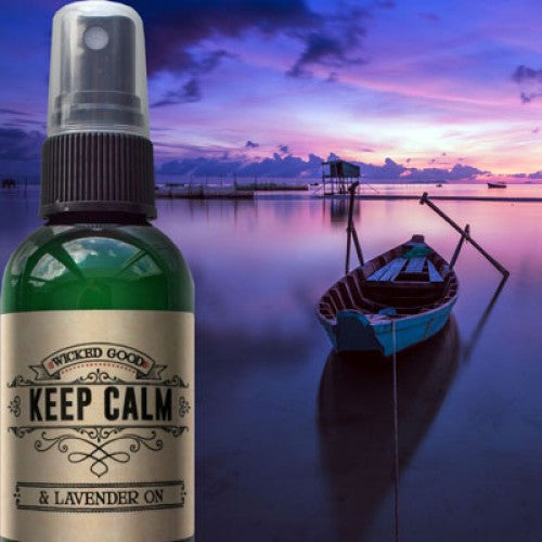 Keep Calm & Lavender On Lavender Spray Wicked Good Spray: Essential Oil Spray - Baby Feathers Gift Shop
