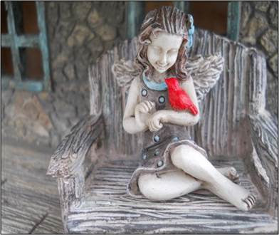 April Mini Fairy: Fairy Garden Miniature - Baby Feathers Gift Shop