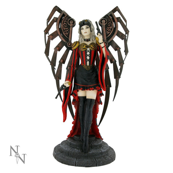Anne Stokes Avenger Steampunk Fairy Angel Figurine - Baby Feathers Gift Shop - 1