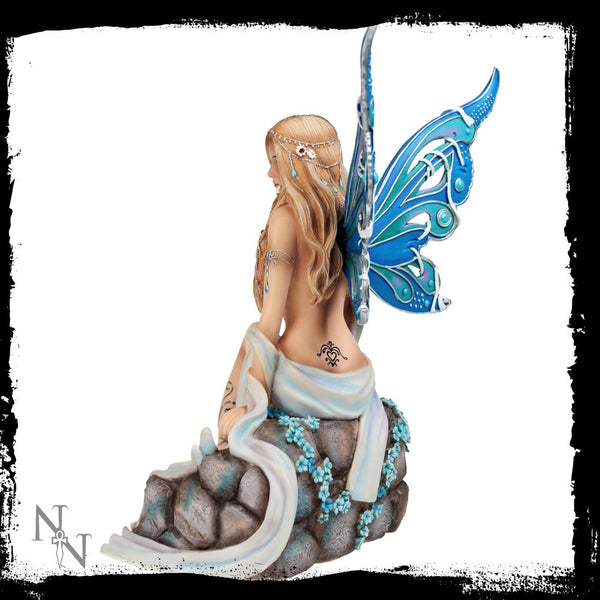 Sapphire Fairy - Limited Edition Jewelled Fairy Collection by Nemesis Now Ltd. - Baby Feathers Gift Shop - 2