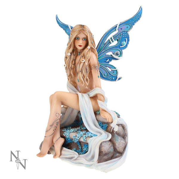 Sapphire Fairy - Limited Edition Jewelled Fairy Collection by Nemesis Now Ltd. - Baby Feathers Gift Shop - 1