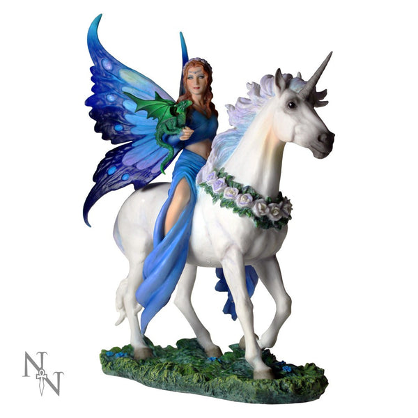 Anne Stokes Realm Of Enchantment Fairy Unicorn Figurine Nemesis Now - Baby Feathers Gift Shop - 1