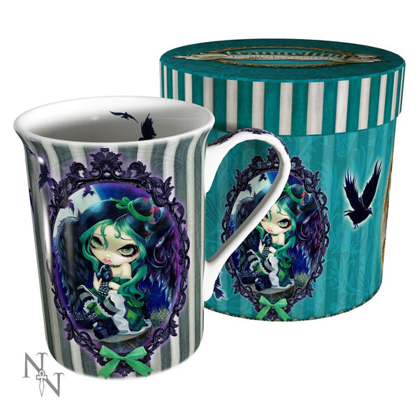 Strangeling: Perched & Sat & Nothing More Mug: Jasmine Becket-Griffith Fairies - Baby Feathers Gift Shop