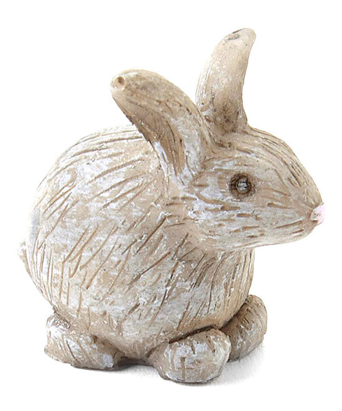 Baxter The Bunny: Fairy Garden Miniature Animal - Baby Feathers Gift Shop