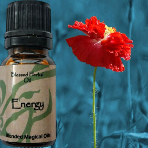 Energy Blessed Herbal Oil: Sandalwood, Ginger Essential Oil Blend - Baby Feathers Gift Shop