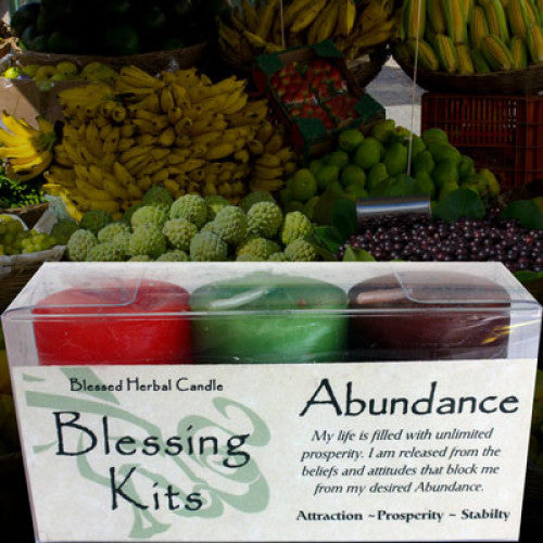 Abundance Blessing Kit: Candles - Baby Feathers Gift Shop