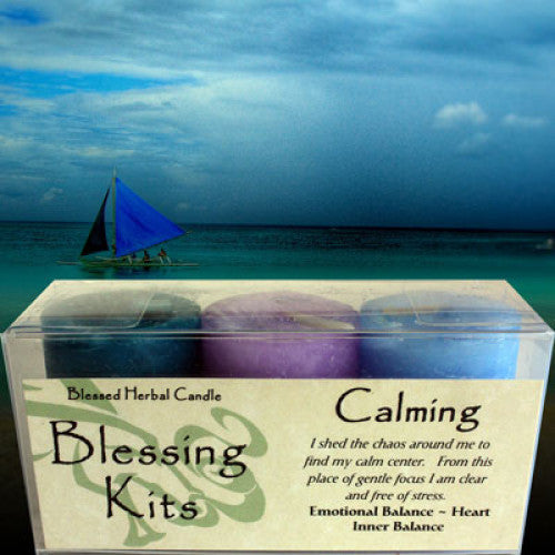 Calming Blessing Kit: Candles - Baby Feathers Gift Shop