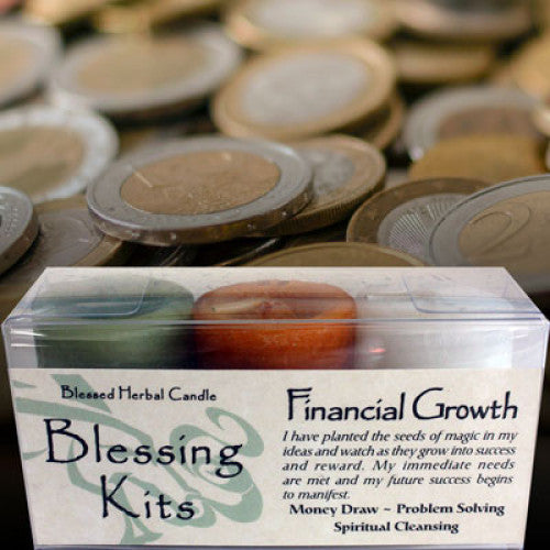 Financial Growth Blessing Kit: Candles - Baby Feathers Gift Shop
