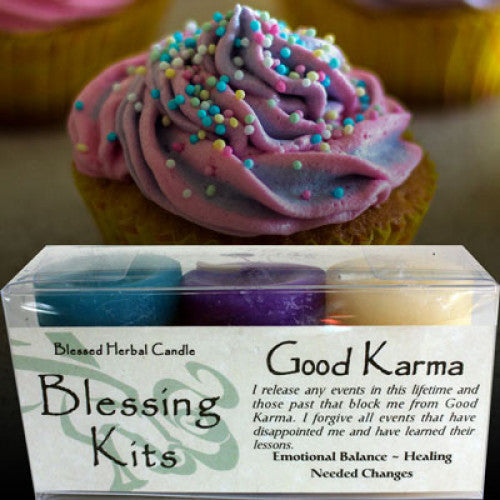Good Karma Blessing Kit: Candles - Baby Feathers Gift Shop