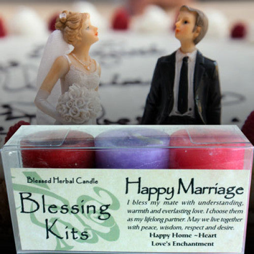 Happy Marriage Blessing Kit: Candles - Baby Feathers Gift Shop