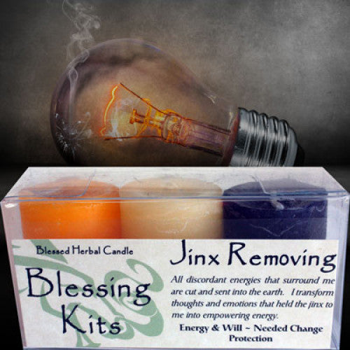 Jinx Removing Blessing Kit: Candles - Baby Feathers Gift Shop