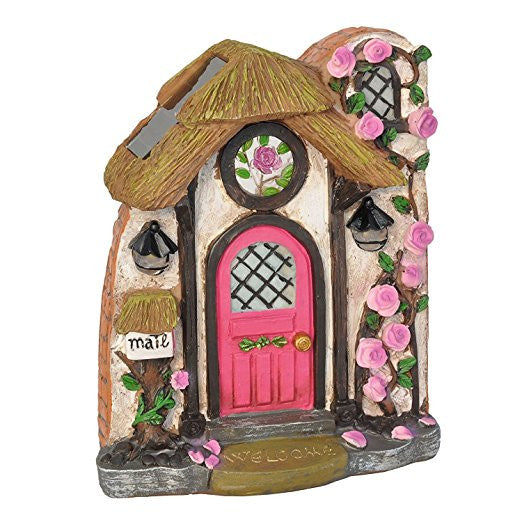 Briar Rose Solar Fairy Door: Fairy Garden Landscaping Miniature Door - Baby Feathers Gift Shop