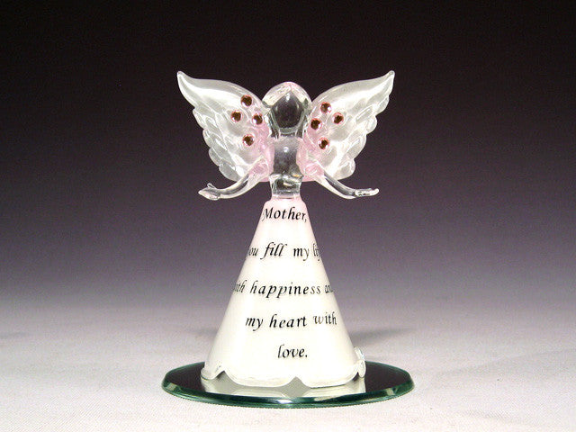 Angel Mother on Mirror - Baby Feathers Gift Shop