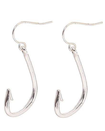 Fishing Hook Earrings - Baby Feathers Gift Shop