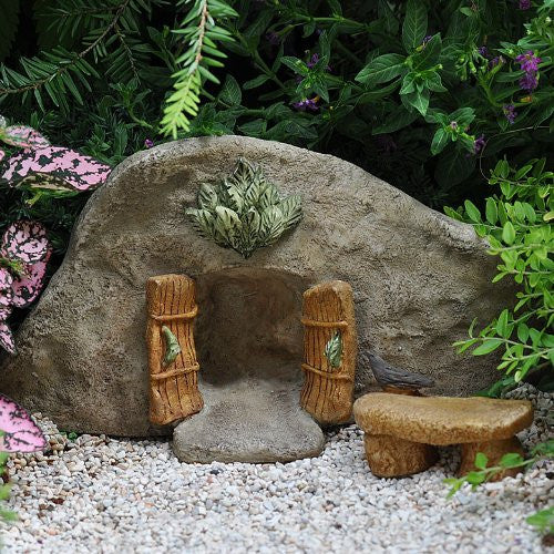 Cove Fairy Door: Fairy Garden Landscaping Miniature Door - Baby Feathers Gift Shop - 1