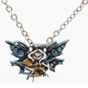 Voodoo Fairy Necklace Jasmine Becket-Griffith Strangeling Fearie Pendant - Baby Feathers Gift Shop