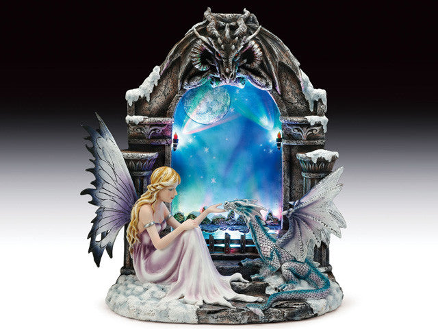 Fairy and dragon with LED light: Fairy Dragon Nightlight - Baby Feathers Gift Shop