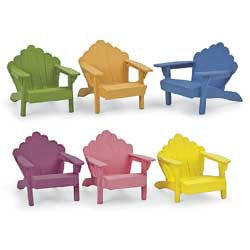 Adirndak Chairs Mini Summer Colors Fairy Garden Miniature Furniture - Baby Feathers Gift Shop