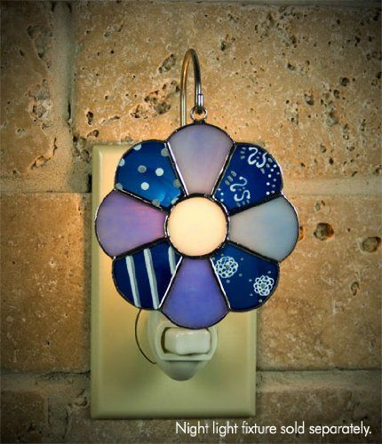 Dresden Quilt Square Stained Glass Switchables Nightlight Cover; Ornament: Suncatcher