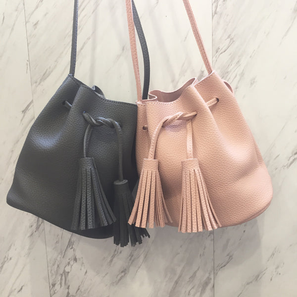 Becky Bucket Bag Dusty Pink