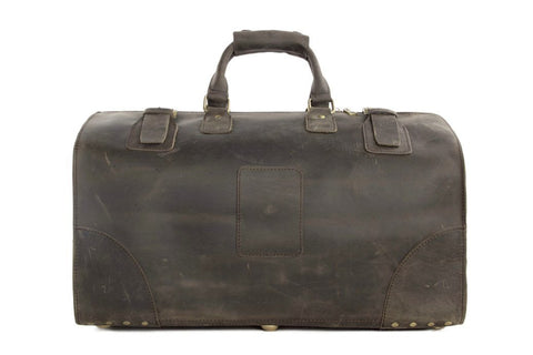 large vintage leather travel bag