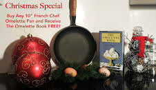 "Christmas Special 10"" Non-Stick French Chef Omelette Pan & FREE: The Omelette Book"