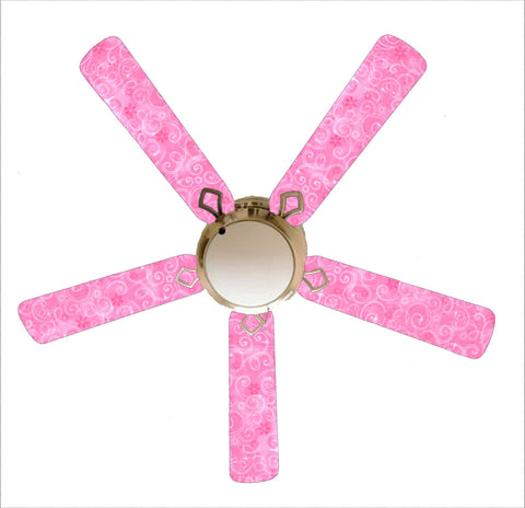 "Pink Sparkle Princess 52"" Ceiling Fan with Lamp"
