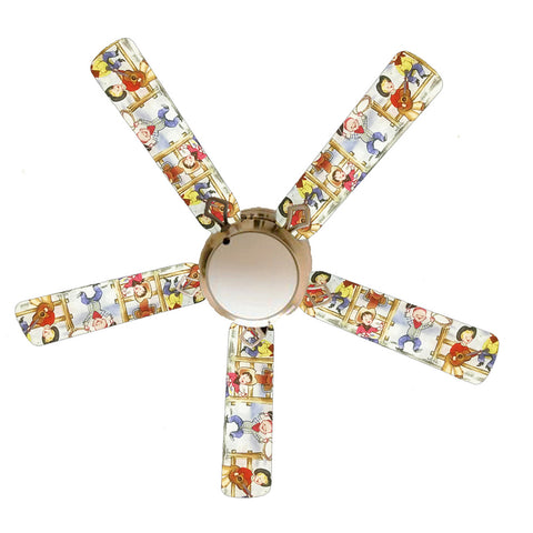 "Cowboy Kids Rodeo 52"" Ceiling Fan with Lamp"