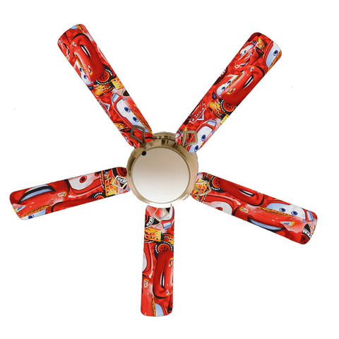 "Lightning McQueen Cars 52"" Ceiling Fan with Lamp"