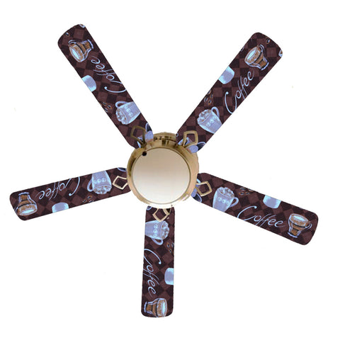 "Coffee Talk 52"" Ceiling Fan with Lamp"