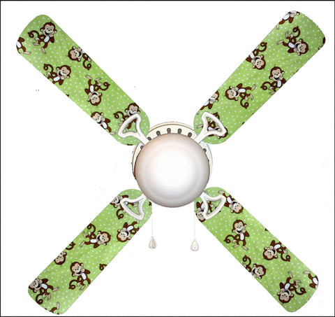"Green Monkey Business Monkeys 42"" Ceiling Fan and Lamp"