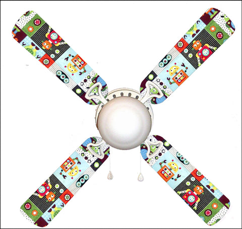"Robot 42"" Ceiling Fan and Lamp"