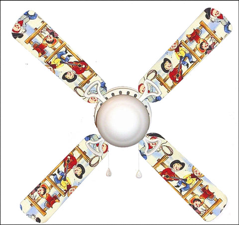 "Cowboy Kids Rodeo 42"" Ceiling Fan and Lamp"