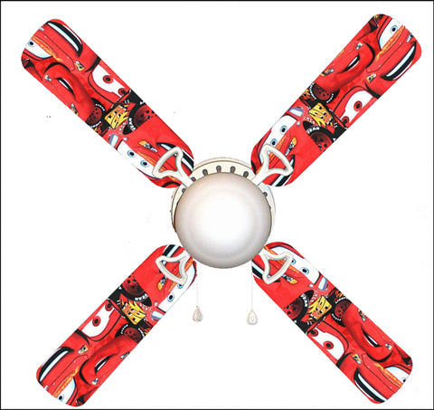 "Lightning McQueen Cars 42"" Ceiling Fan and Lamp"
