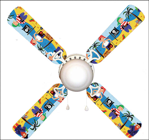 "Little Boys Pirate Island 42"" Ceiling Fan and Lamp"