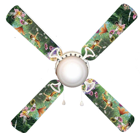 "Tinkerbell Fairies Faeries Forest 42"" Ceiling Fan and Lamp"