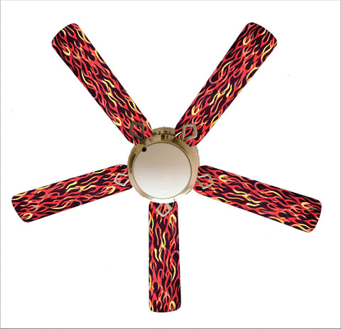 "Hot Rod Flames 52"" Ceiling Fan and Lamp"