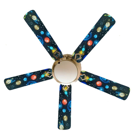 "Spaced Out Outer Space 52"" Ceiling Fan with Lamp"