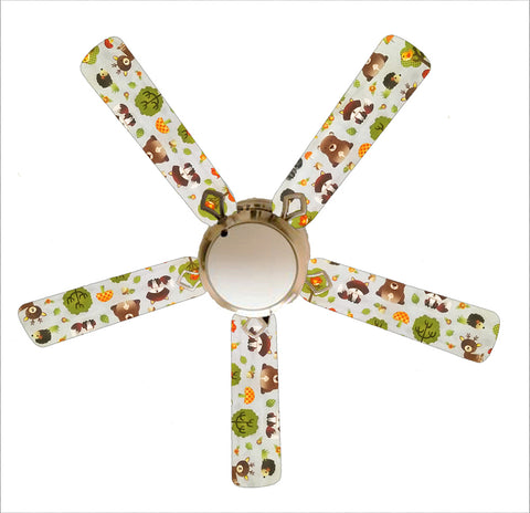 "Forest Friends 52"" Ceiling Fan and Lamp"